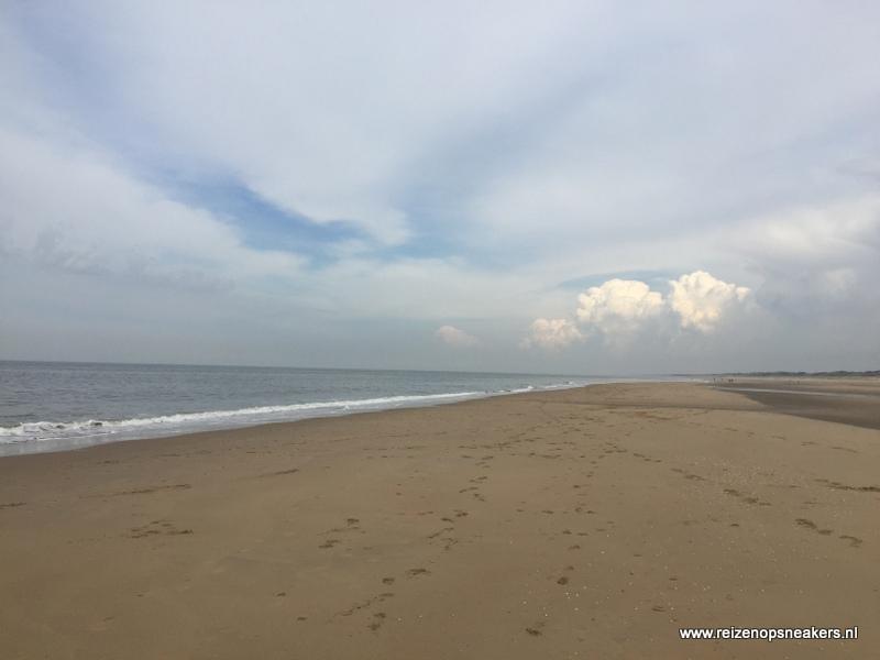 Herfst strandwandeling